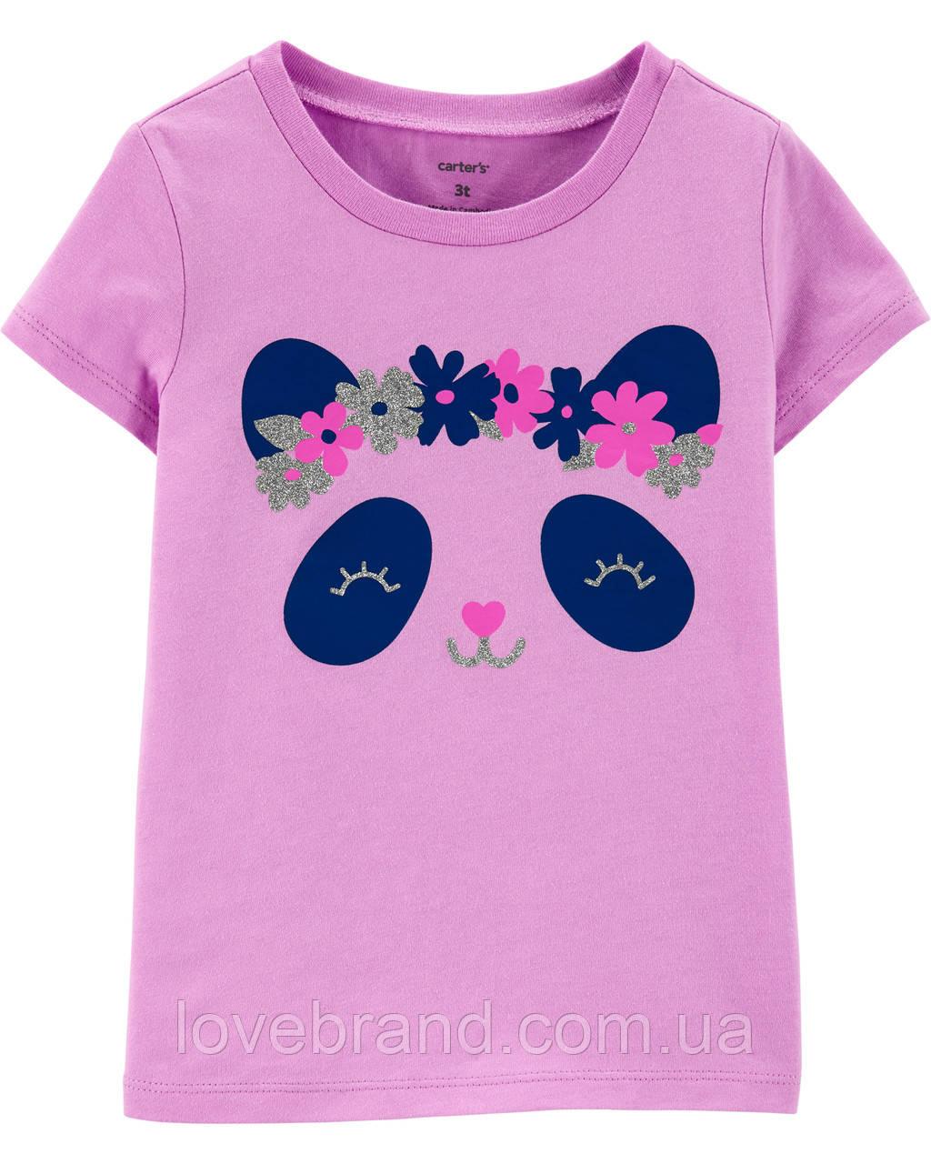 """Детская футболка для девочки Carter's """"Пандочка"""" 3Т/93-98 см"""