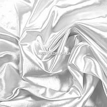 Ткань атлас стрейчевый белый, фото 2