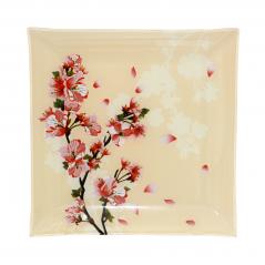 Тарелка квадрат 8'-20 см (Цветущая Вишня)