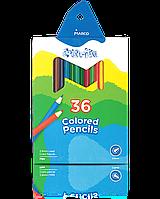 """Олівці кольорові """"MARCO"""" №1100-36CB Colorite NEW (36 кольорів), фото 1"""