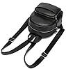 Рюкзак компактный женский Vintage 20053 Черный, фото 6