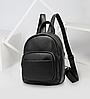 Рюкзак компактный женский Vintage 20053 Черный, фото 9