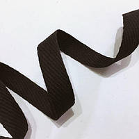 Тесьма киперная 15мм цв черный (боб 50,100м)