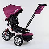 Трехколесный велосипед с ручкой козырьком фарой поворотное сиденье надувные колеса Best Trike 9288 В - 6945, фото 2