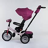 Трехколесный велосипед с ручкой козырьком фарой поворотное сиденье надувные колеса Best Trike 9288 В - 6945, фото 4