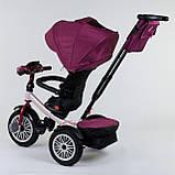 Трехколесный велосипед с ручкой козырьком фарой поворотное сиденье надувные колеса Best Trike 9288 В - 6945, фото 5