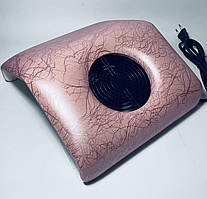 Вытяжка/пылесос  для маникюра розовая с узором