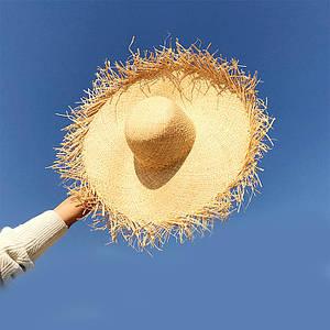 Женская красивая шляпа из соломы для лета