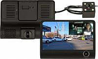 Автомобильный видеорегистратор UKC SD319 Full HD 1080P 3 камеры Black, фото 1
