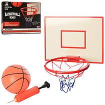 Баскетбольное кольцо 28 см металл, Набор для игры в баскетбол (мяч, кольцо, насос), 0164