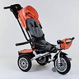 Трехколесный велосипед с ручкой козырьком фарой поворотное сиденье надувные колеса Best Trike 9288 В - 4716, фото 3