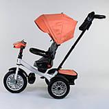 Трехколесный велосипед с ручкой козырьком фарой поворотное сиденье надувные колеса Best Trike 9288 В - 4716, фото 4