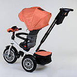Трехколесный велосипед с ручкой козырьком фарой поворотное сиденье надувные колеса Best Trike 9288 В - 4716, фото 5