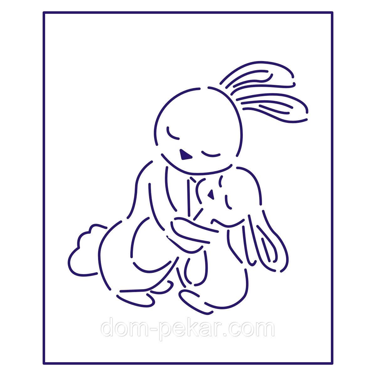 Трафарет Кролики-2 11,2*10,3 см (TR-1)