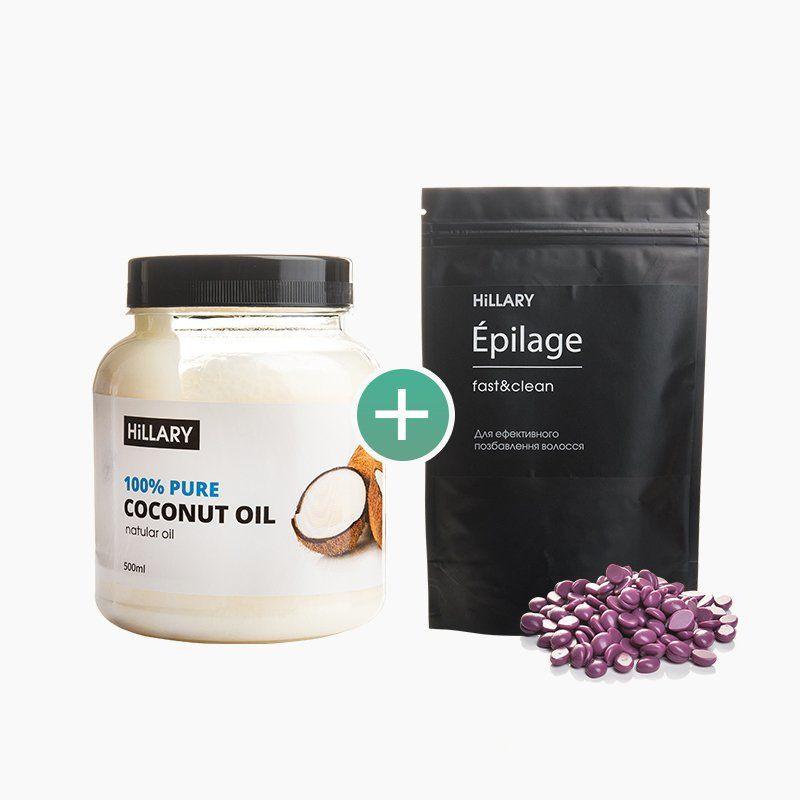 Набор Hillary рафинированное кокосовое масло 500 мл и Epilage Original 100 г SKL13-240450
