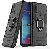 Чехол Iron Ring для Samsung Galaxy M21 / M215 бронированный бампер Броня Black