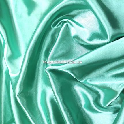 Ткань атлас стрейчевый мята, фото 2