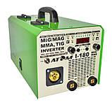 Полуавтомат инверторный АТОМ I-180 MIG/MAG с горелкой и комплектом сварочных кабелей (вариант Х), фото 2