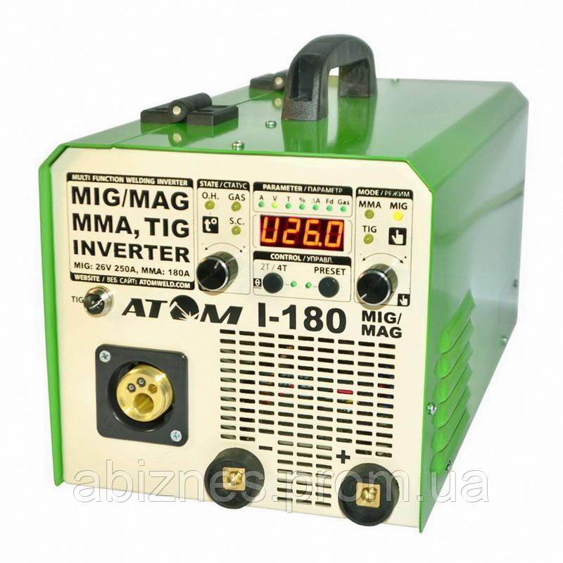 Полуавтомат инверторный АТОМ I-180 MIG/MAG с горелкой и комплектом сварочных кабелей (вариант Х)