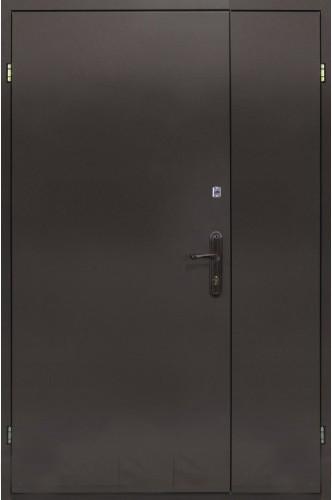 Полуторная Металлическая входная дверь с 2-х сторон металл