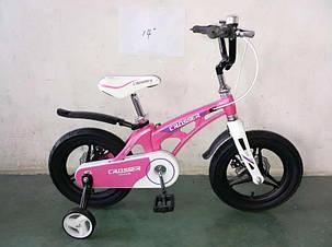 """Детский велосипед Crosser  Premium 14"""" розовый, фото 2"""