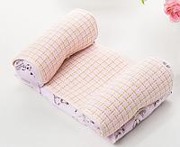 Детская подушка для сна SUNROZ Baby Pillow Shape позиционер для новорожденного ребенка Розовый (SUN6763)