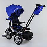Трехколесный велосипед с ручкой козырьком фарой поворотное сиденье надувные колеса Best Trike 9288 В - 3105, фото 2