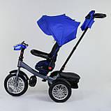 Трехколесный велосипед с ручкой козырьком фарой поворотное сиденье надувные колеса Best Trike 9288 В - 3105, фото 4