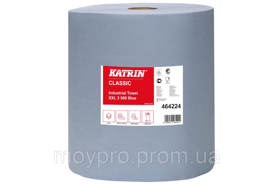 Папір двошаровий синій, розмір відриву 37,3 * 36см, 500 відривів Katrin