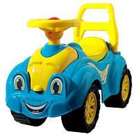Игрушка каталка толокар Автомобиль для прогулок Желтый/Голубой Технок (3503TB) полностью безопасна для ребенка