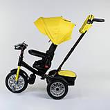 Трехколесный велосипед с ручкой козырьком фарой поворотное сиденье надувные колеса Best Trike 9288 В - 4835, фото 2