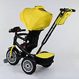 Трехколесный велосипед с ручкой козырьком фарой поворотное сиденье надувные колеса Best Trike 9288 В - 4835, фото 3