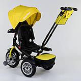 Трехколесный велосипед с ручкой козырьком фарой поворотное сиденье надувные колеса Best Trike 9288 В - 4835, фото 4
