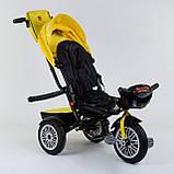 Трехколесный велосипед с ручкой козырьком фарой поворотное сиденье надувные колеса Best Trike 9288 В - 4835, фото 5