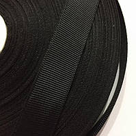 Тасьма репсова 20мм кол чорний (рул 25ярд=22,86 м)