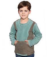 Флисовая кофта-кенгуру для мальчика (на рост 116-146 в расцветках)