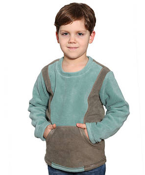 Флісова кофта-кенгуру для хлопчика на ріст 116-146 в кольорах)