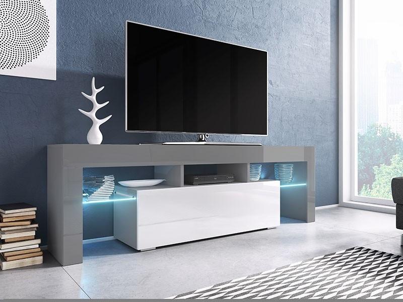 ТВ тумба TORO 138 серый/белый (CAMA)