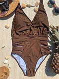 Элегантный женский  слитный  купальник со стразами 38/46, фото 5