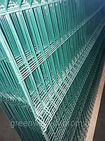 Секция ограждения длиной 2500 мм из сварной сетки 3D ЭКОНОМ цинк/полимер, 3/4 мм 1250