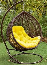 Підвісне садове крісло гойдалка кокон крапля куля плетене з ротанга Українські Конструкції Веста / Vesta