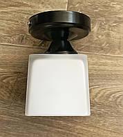 Потолочный светильник на одну лампочку плафон квадрат черный цвет