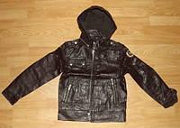 Куртка демисезонная на мальчика Под кожу