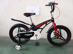 "Дитячий велосипед Crosser Premium 18"" чорний"