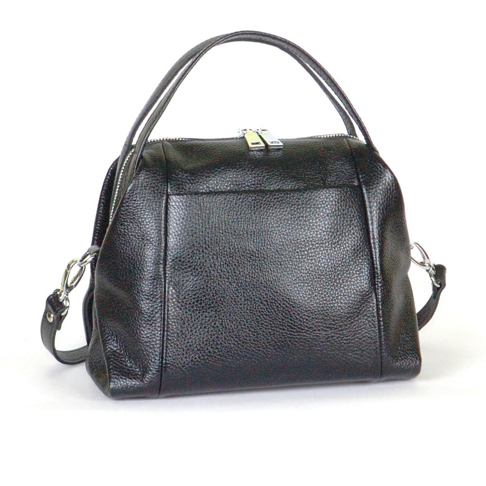 Женская кожаная сумочка 51 черный флотар 01510101
