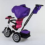 Трехколесный велосипед с ручкой козырьком фарой поворотное сиденье надувные колеса Best Trike 9288 В - 7598, фото 5