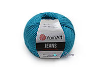 YarnArt Jeans, темно бирюзовый №55