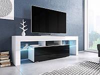ТВ тумба TORO 138 белый/черный (CAMA)
