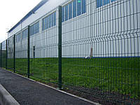 Секция ограждения длиной 2500 мм из сварной сетки 3D, СТАНДАРТ цинк/полимер, 4/4 мм,PROMZABOR, Украина, высота 1550