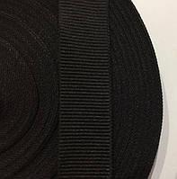 Тесьма репсовая 30мм цв черный (рул 50м) Беларусь